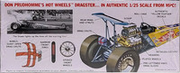 Don Prudhomme Hot Wheels Yellow Feather 1972 Top Fuel Dragster, 1:25