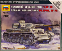 German Medium Tank Pz.Kpfw.IV Ausf.F2, 1:100