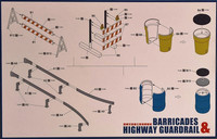 Barricades & Highway Guardrail, 1:35