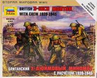 British 3-inch Mortar with Crew 1939-1945, 1:72