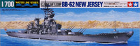 U.S. Navy Battleship BB-62 New Jersey, 1:700