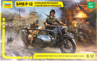 German Motorcycle with Sidecar and Crew R-12, 1:35
