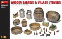 Wooden Barrels & Village Utensils, 1:35