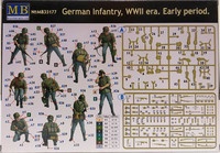 German Infantry, WWII era. Early Period, 1:35