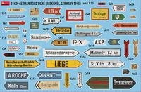 German Road Signs (Ardennes, Germany 1945), 1:35 (pidemmällä toimitusajalla)