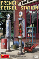 French Petrol Station 1930-40s, 1:35