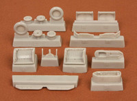 MIG-21 BIS Wheelbays & wheels (for zvezda kit), 1:72
