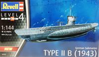 German Submarine Type IIB (1943), 1:144 (pidemmällä toimitusajalla)