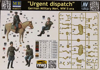 Urgent Dispatch, German Military Men, WWII, 1:35