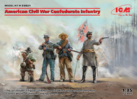 American Civil War Confederate Infantry, 1:35