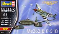 Combat Set Me262 & P-51B, 1:72