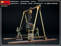 German Tankmen with Gantry Crane & Maybach HL 120 Engine, 1:35