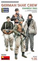 German Tank Crew Kharkov 1943 Resin Heads, 1:35