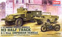 M3 Half Track & 1/4 ton Amphibian Vehicle, 1:72