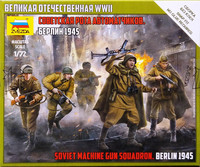 Soviet Machine Gun Squadron Berlin 1945, 1:72