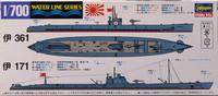Japanese Navy Submarine I-361 / I-171, 1:700