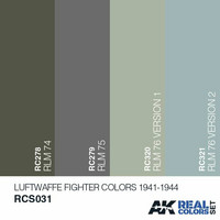 Real Colors, Luftwaffe Fighter Colors 1941-1944 (4 maalin paketti)