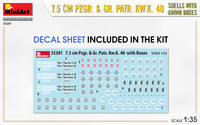 7,5cm Pzgr. & Gr.Patr. Kw.K 40 Shells with Ammo Boxes, 1:35 (pidemmällä toimitusajalla)
