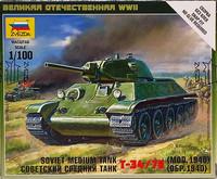 Soviet Medium Tank T-34/76 (mod.1940), 1:100