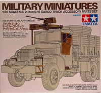 U.S. 2,5 Ton 6X6 Cargo Truck Accessory Parts Set, 1:35