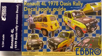 Renaul 4L '79 Oasis Rally Decals 1:24