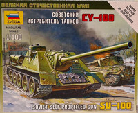 Soviet Self-Propelled Gun SU-100 1:100