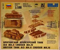 British Tank A13 Mk.II Cruiser Mk.IV 1:100