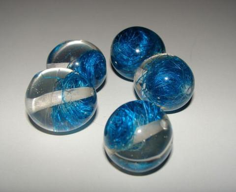 Pyöreä akryylihelmi 20mm Sininen