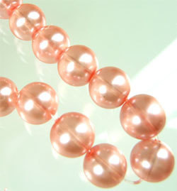Lasihelmi 12mm Vaaleanpunainen