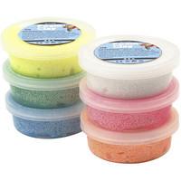 Foam Clay®, kimalle, pastellivärit, 6x14g