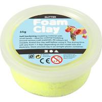 Foam Clay®, kimalle, keltainen, 35g
