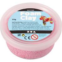 Foam Clay- helmimassa 35g Glitter punainen