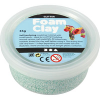 Foam Clay- helmimassa 35g Glitter vihreä