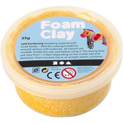 Foam Clay® Helmimassa, keltainen, 35g