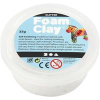 Foam Clay®, kimalle, valkoinen, 35g