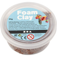 Foam Clay® Helmimassa, ruskea, 35g