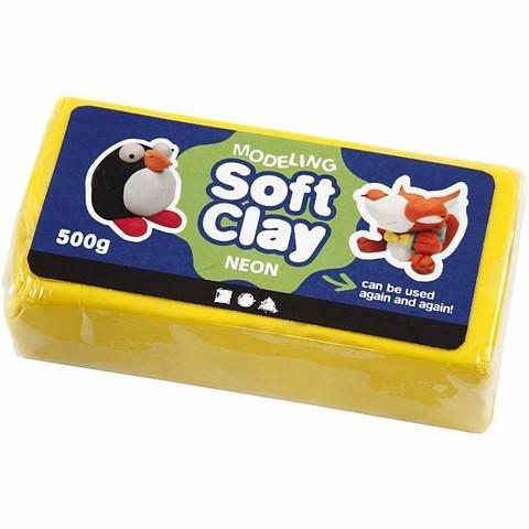Muovailuvaha Soft Clay keltainen