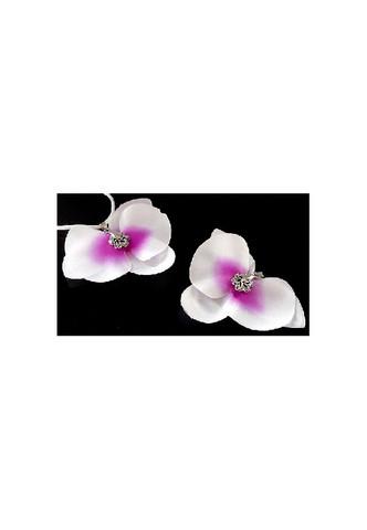 Korunosa orkidea valko pinkki