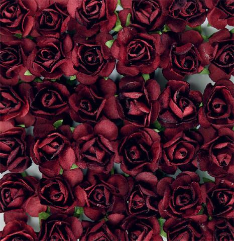 Paperiruusu 12kpl Tummanpunainen