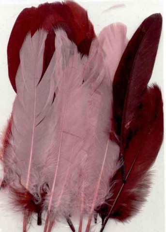 Sulka, 15kpl, rosat tummanpunaiset 12,5-17,5cm