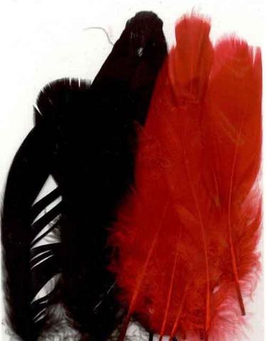 Sulka, 15kpl, puna/musta 12,5-17,5cm