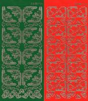 Ääriviivatarra, Kulmatarrat, Joulu, Vihreä Havu / Punainen Kellot