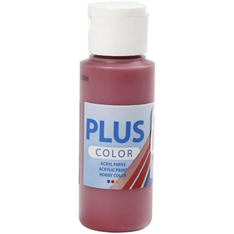 Plus Color, askartelumaali, 60ml, antiikinpunainen
