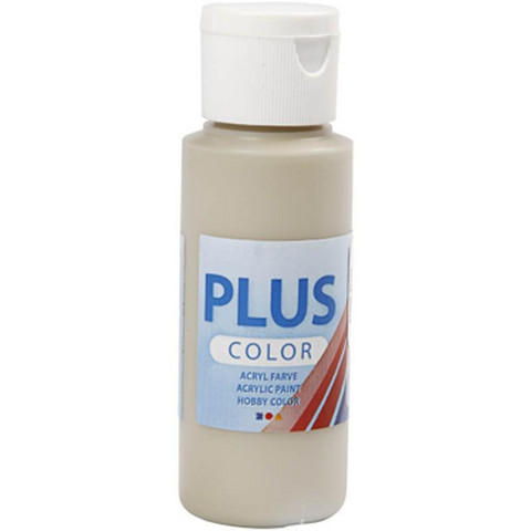 Plus Color, askartelumaali, 60ml, harmaanbeige