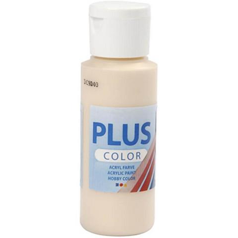 Plus Color, askartelumaali, 60ml, vaalea puuteri