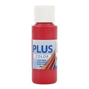 Plus Color, askartelumaali, 60ml, karmiininpunainen