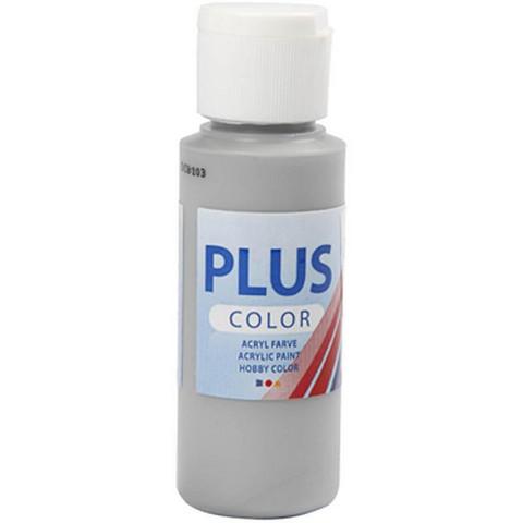 Plus Color, askartelumaali, 60ml, sateenharmaa