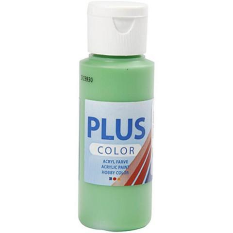 Plus Color, askartelumaali, 60ml, kirkas vihreä