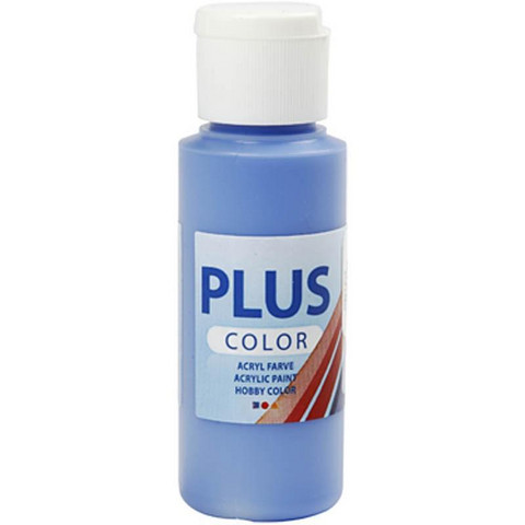 Plus Color, askartelumaali, 60ml, koboltinsininen
