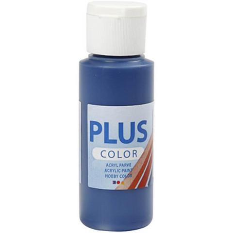 Plus Color, askartelumaali, 60ml, laivastonsininen